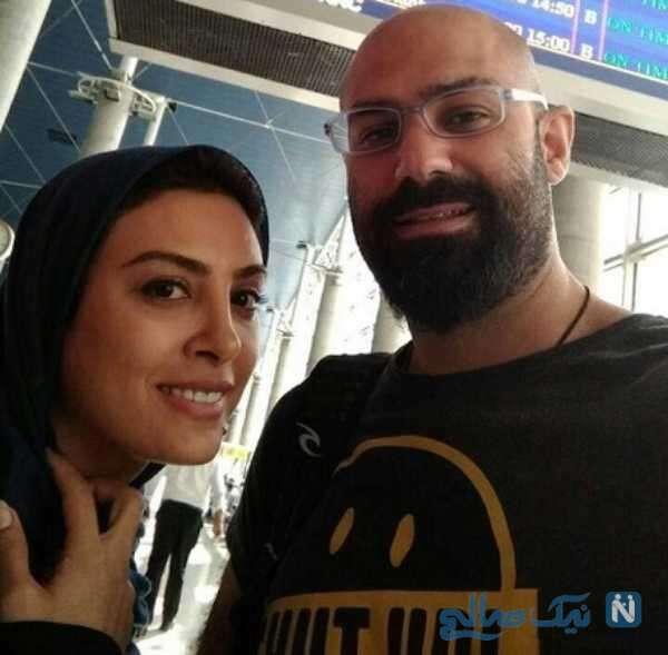 عکس حدیثه تهرانی همراه همسرش