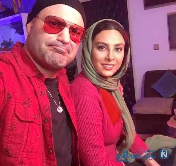 سلفی خانم بازیگر با همسرش