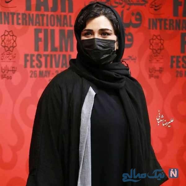 بازیگر ایرانی باران کوثری با ماسک