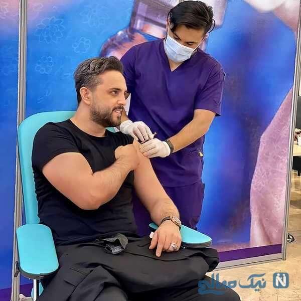 مجری معروف در حال تزریق واکسن