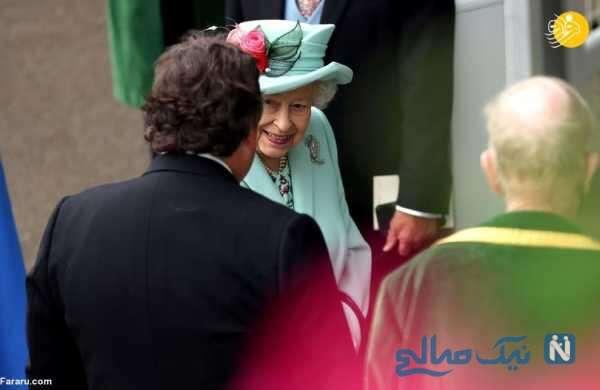 تصاویر ملکه الیزابت در پیست