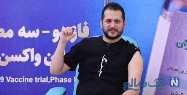 تزریق داوطلبانه واکسن ایرانی توسط سیاوش خیرابی