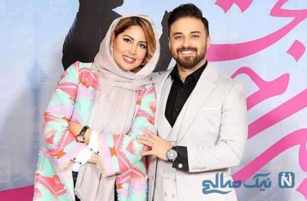 خواننده پاپ بابک جهانبخش و همسرش