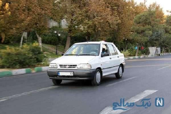 لحظه عجیب سقوط پراید از پل وحید در اصفهان