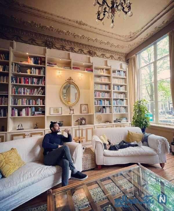 رضا قوچان نژاد در منزل لاکچری اش