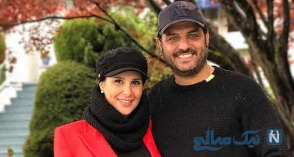 سام درخشان و همسرش