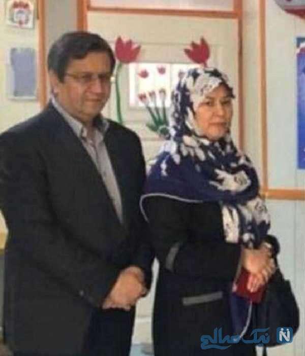 همتی و همسرش