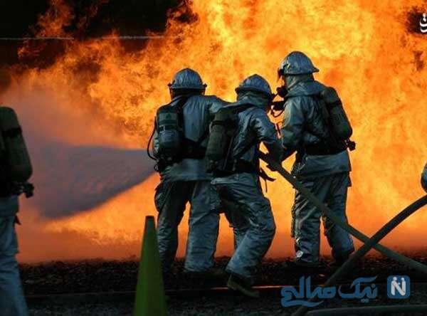 تلاش برای مهار آتش