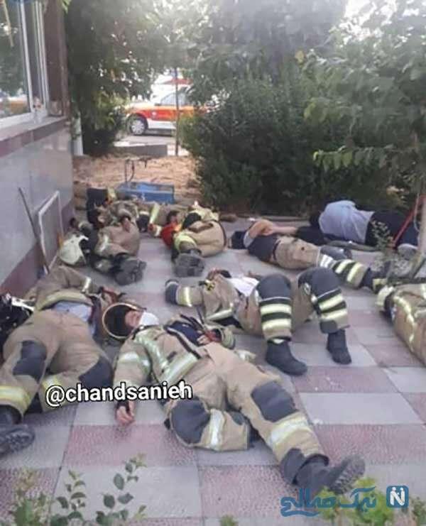 استراحت آتش نشان ها