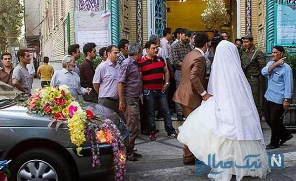 حضور عروس داماد در انتخابات