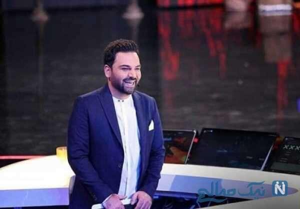 تصویری از احسان علیخانی مجری تلویزیون