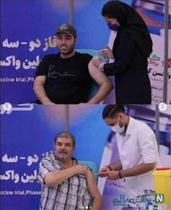 تزریق واکسن علی صبوری