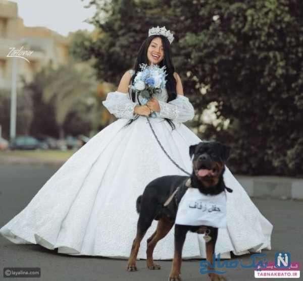 عکس ازدواج دختری با سگ