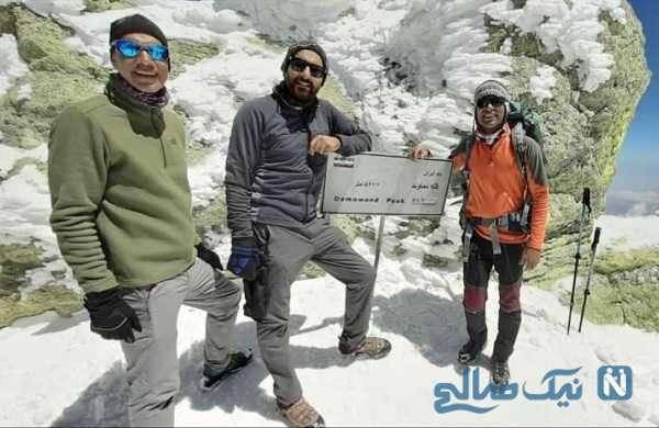 آقای بازیگر در قله دماوند