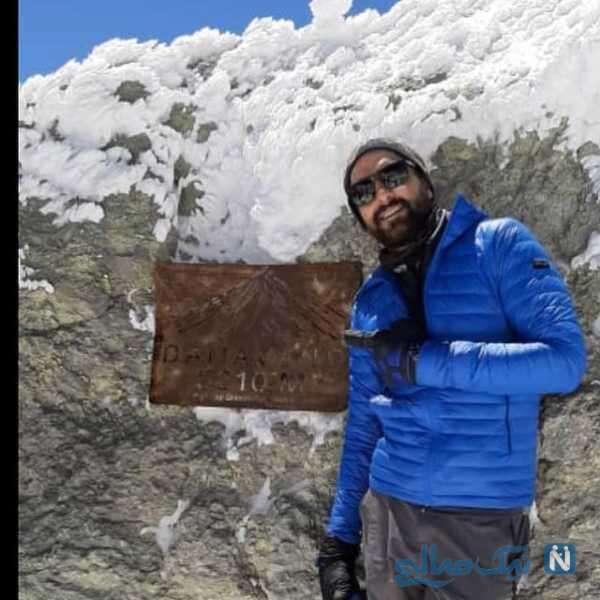 حامد کمیلی در قله دماوند