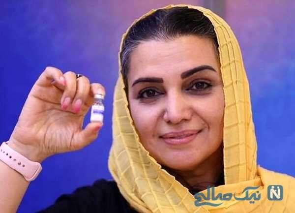 تزریق داوطلبانه واکسن ایرانی توسط الهام پاوه نژاد