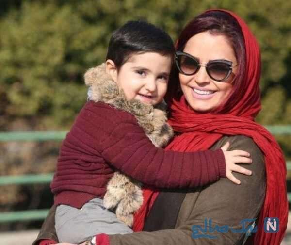 بازیگر زن سپیده خداوردی و پسرش