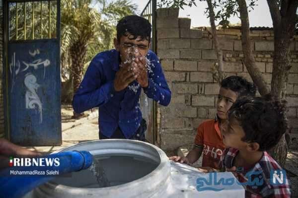 تصاویر آبرسانی روستاهای اهواز