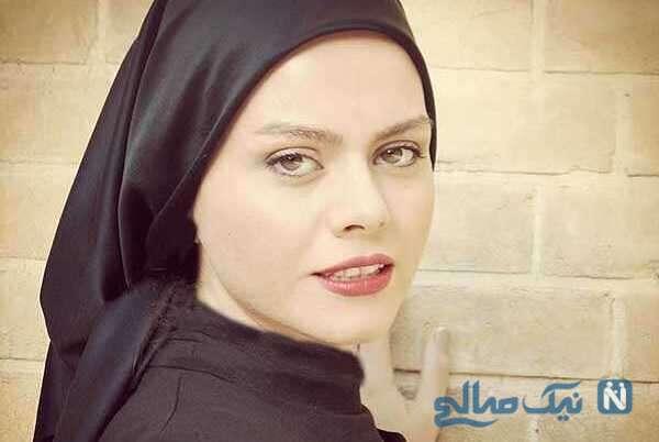 غزال نظر بازیگر سریال احضار بر سر مزار علی انصاریان در سالروز تولد آقای بازیگر