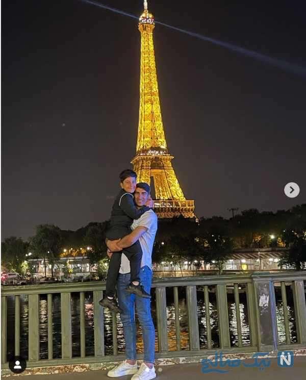 دروازه بان ایرانی و پسرش در پاریس