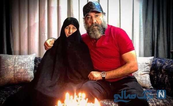 علی انصاریان و مادرش