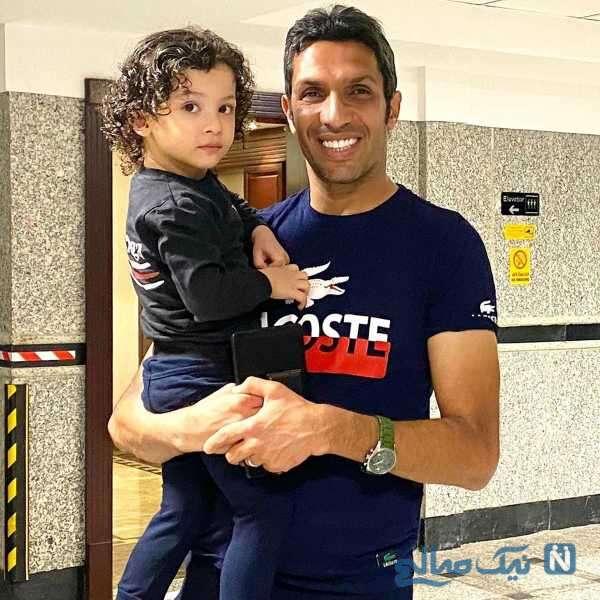 سپهر حیدری و پسرش