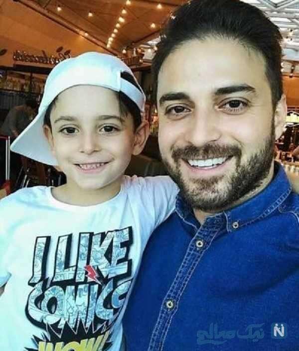 تصویری از بابک جهانبخش و پسرش آرتا