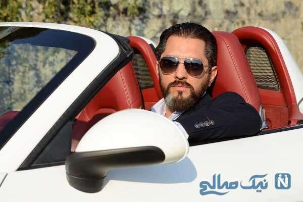 بهرام رادان در خودرو لوکس اش