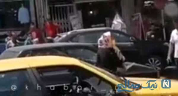 قمه کشی یک زن در ابهر به تاکسی