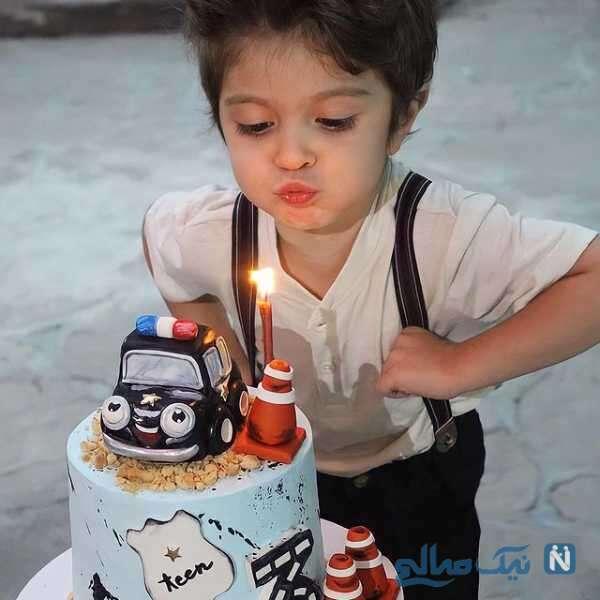 جشن تولد آیین پسر مجری معروف