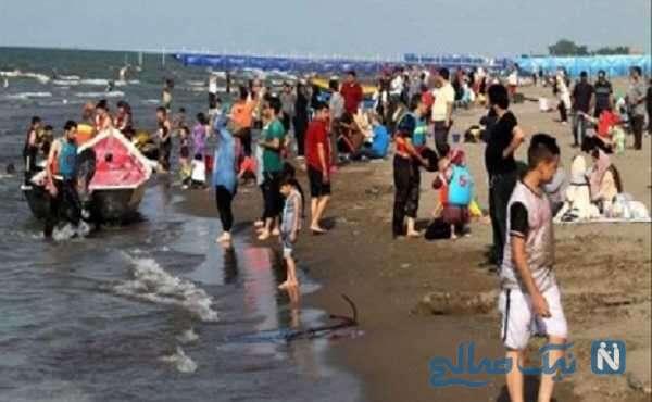 تصاویری از حال و هوای ساحل دریای مازندران در ایام کرونایی!