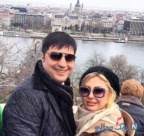 بازیگر سینما نیوشا ضیغمی و همسرش