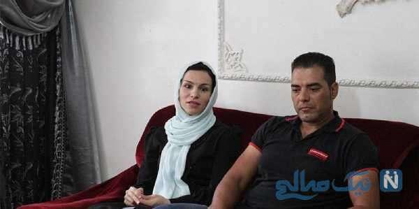 تصویری از آتوسا عباسی و همسرش