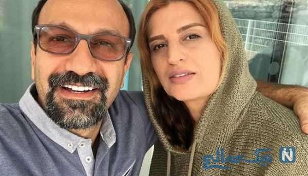 اصغر فرهادی کارگردان معروف و همسرش