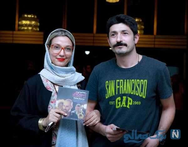 تصویری از حدیث میرامینی همراه همسرش