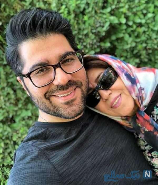 حامد همایون خواننده ایرانی و مادرش