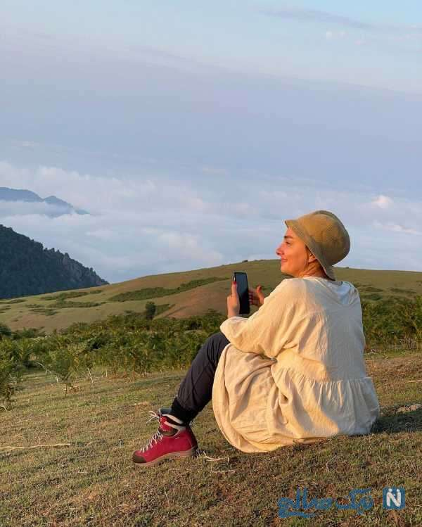 هانیه توسلی در طبیعت