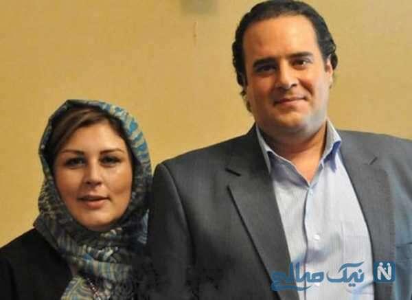 تصویری از هومن برق نورد و همسرش