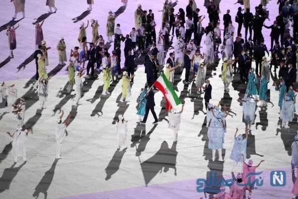 تصاویری از رژه کاروان المپیک ایران