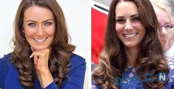 شباهت دختر جوان به کیت میدلتون عروس ملکه انگلیس