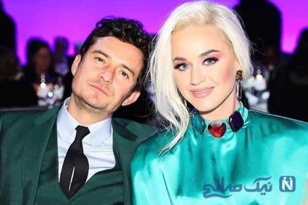 عکس تیپ کیتی پری و نامزدش با لباس عجیب در کنار بازیگر بازی تاج و تخت