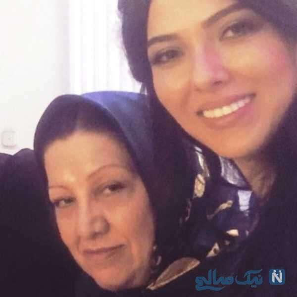 لیلا اوتادی بازیگر سینما و مادرش