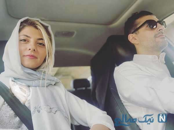 مهسا طهماسبی با همسرش