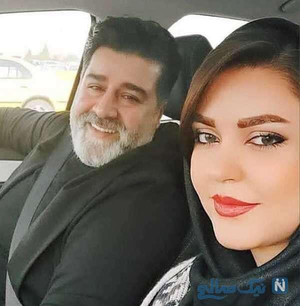 سلفی مهدی یغمایی و همسرش