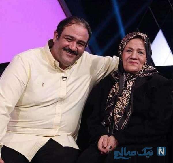 تصویری از مهران غفوریان با مادرش