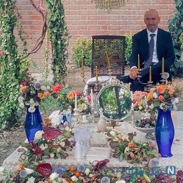 پدر فرشته حسینی در مراسم عقد دخترش