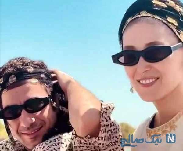 عکس نوید محمدزاده به همراه همسرش