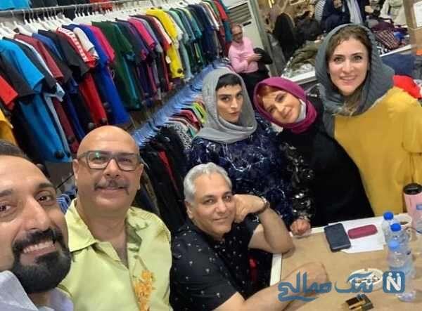 سلفی امیرمهدی ژوله با بازیگران سریال دراکولا