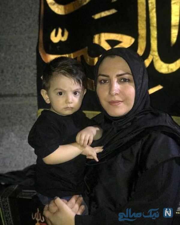 عکس المیرا شریفی مقدم و برادرزاده اش