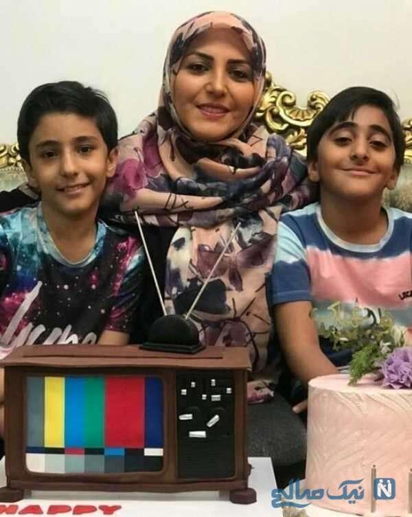 خانم شریفی مقدم و پسرانش